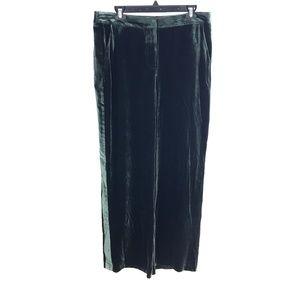 Boden Selwood Green Crushed Velvet Pants